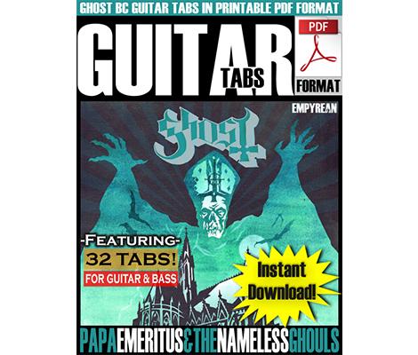 Ghost BC   PDF Guitar Tabs   32 Songs   Sheet Music   EmpyreanFX