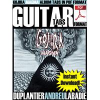 Gojira - Magma PDF Guitar Tabs