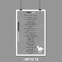 Deftones White Pony Digital Bath Song Lyrics Poster